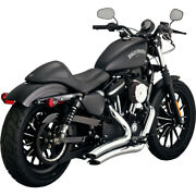 Vance And Hines 26067 Chrome Big Radius 2 Into 2 Exhaust 14-19 Harley Sportster Xl