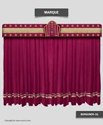 Saaria Marque Movie Stage Home Theater Event Backdrop Velvet Curtain 16and039w X 10and039h