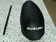 Suzuki T500 Titan 1970 To 1977 Seat Cover With Strap Best Quality S15- N15