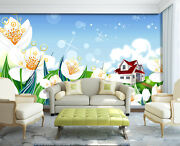 3d Flower Animation Flashes Wall Paper Print Decal Wall Deco Indoor Wall Mural