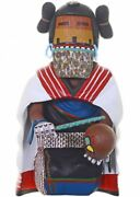Vintage 8-1/2 Tall Very Rare Hand Carved Hopi Kneeling Maiden Kachina Doll 1960