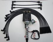Big Block Chevy 348 409 Pro Series Black Small Cap Hei Distributor And Plug Wires