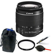 Canon Ef-s 18-55mm F/3.5-5.6 Is Ii Lens Bundle For Canon Eos Rebel T5 And T6