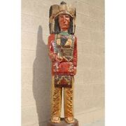 Frank Gallagher 4and039 Wooden Cigar Store Indian Native American Made In Usa