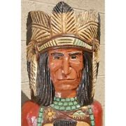 Frank Gallagher 6and039 Wooden Cigar Store Indian Chief Native American Made In Usa