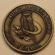 497th Combat Training Sq Singapore Commando Sling Air Force Challenge Coin