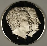 1973 Richard Nixon And Spiro Agnew Large Silver Inaugural Medal 6.3 Ozt Of .925