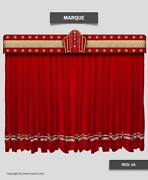 Saaria Marque Velvet Home Theater Stage Movie Studio Curtains 17and039w X 9and039h Red-1a