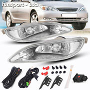 For 2005-2008 Toyota Corolla Bumper Lamp Clear Fog Light Pair+switch Wiring Kit
