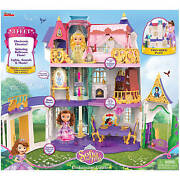 Disney Sofia The First Enchancian Castle 3and039 Tall Doll House Lights And Sounds New