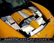 2005-2013 Corvette C6 And Grand Sport Polished Stainless Inner Fender Covers - 4pc