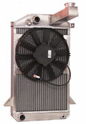 1953-1965 Triumph Tr2/ Tr3 Aluminum Radiator With 11 Fan...made In The Usa