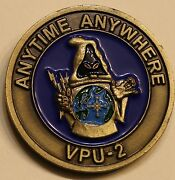 Special Projects Patrol Sq 2 Vpu-2 Wizards Commander Navy Challenge Coin