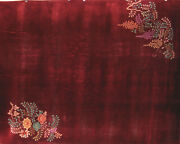 Plush Red Antique Art Deco 30and039s Walter Nichols Chinese Flower Rug 11.5and039 X 8.75and039