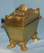 Antique Rare Miniature Bronze/brass Sarcophagus Memorial To Napoleon Late 1800and039s