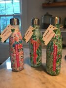 Nwt Starbucks Swell Lilly Pulitzer Metal Water Bottle New Sand039well Green Floral