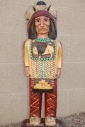 6and039 Cigar Store Indian W Mandella 6 Ft Wooden Sculpture By Frank Gallagher