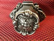 Period Brass Silver Colored Interior Door Knob With Back Plate