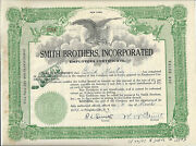 Smith Brothers Incorporated.......1937 Employees Certificate