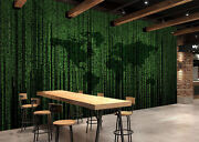 3d Green Shadow Reflection Wall Paper Print Decal Wall Deco Indoor Wall Mural