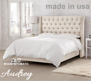 Horchow Delamore Style Restoration Chesterfield Tufted Hardware Audrey King Bed