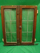 Scarce Antique French Leaded Window With All Original Hardware 28 X 35