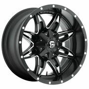 Fuel Lethal D567 15x10 5x114.3/5x120.65 Offset -43 Black And Milled Qty Of 4