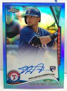 Rougned Odor 2014 Topps Chrome Blue Refractor Rc On-card Autograph Auto And039d/199