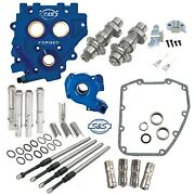 Sands 585c Chain Drive Cam Camchest Kit W/ Pushrods Oil Pump Plate Harley 07-17