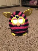 Furby Boom Pink And Black Stripes Electronic And Interactive Plush Toy