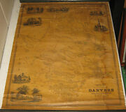 Antique 1852 Henry Mcintyre And039map Of The Town Of Danvers Massachusettsand039 - Scarce