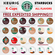 Starbucks Coffee Keurig K-cups Pick Flavor And Quantity- Free Expedited Shipping
