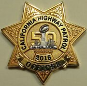Super Bowl 50 California Highway Patrol Chips Police Challenge Coin