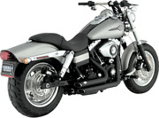 Vance And Hines Shortshots Staggered Black Exhaust Harley 06-11 Dyna Fxd Fxdf Fxdw