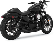 Vance And Hines Black Upsweep Exhaust 2 Into 1 For Harley Sportster Xl 07-18