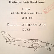 Wheels, Brakes And Tires On Beechcraft Duke A60 Service And Parts Manual 60-8003-1/5