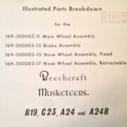 Beech B19 C23 A24 And7 A24r Main Wheel Nose Wheel And Brake Service Partsand Manual