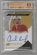 2012 Exquisite Andrew Luck Auto Rc Gold Bgs 9.5 W/10 Low Pop