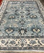 9x12 Handknotted Area Rug Bamboo Silk Light Blue