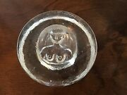 Heavy Glass Paperweight Figural Nude Woman Paper Weight Bowl Mid Century Modern