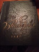 1947 E.e. Bass Greenville Mississippi High School Yearbook,the Black And Gold