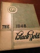 1948 E.e. Bass Greenville Mississippi High School Yearbook,the Black And Gold