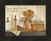 Our Home By Susie Boyer 16x20 Vintage Friends Candles Flowers Quote Framed Art