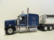 Dcp 1/64 Scale W-900 Kenworth Blue And Wilson Grain Trailer Hill Top Farms