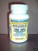 Potassium 395mg Heart Muscle Function Bone. Made In Usa - 180 Tablets