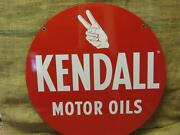 Vintage Kendall Motor Oil Sign Antique Old Gas Station Double Sided Auto 9763