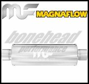 Magnaflow 10444 Performance Stainless Round Muffler 2 Inlet / Outlet Exhaust