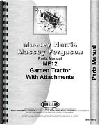 Massey Ferguson 12 Lawn And Garden Tractor Parts Manual