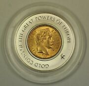 1867 Bb France 20f Gold Coin In Franklin Mint Great Powers Of Europe Capsule