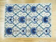 10'x13'9 Handknotted Arts And Crafts Design Pure Wool Oriental Rug G32941